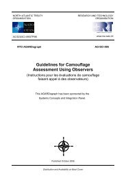 Guidelines for Camouflage Assessment Using Observers - NATO ...