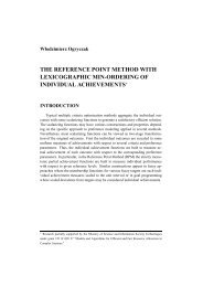 the reference point method with lexicographic min-ordering of ...