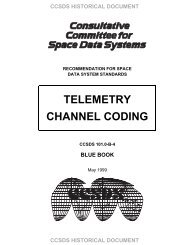 telemetry channel coding recommendations - CCSDS