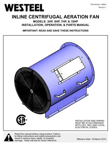 198943 Inline Fan INSTALLATION INSTRUCTIONS.pdf - Westeel