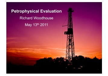 Petrophysical Evaluation