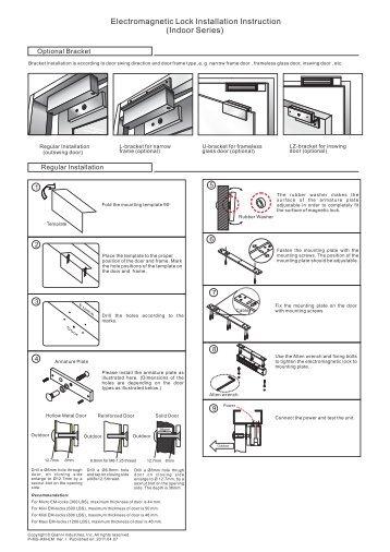 Installation Instruction - GEM,Gianni Industries, Inc.