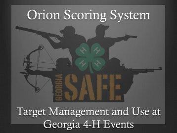 Orion Scoring System - Georgia 4-H