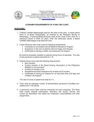 Licensing Requirements - DOH