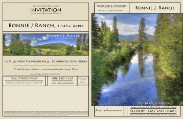 Invitation Bonnie J Ranch, 1,145+- Acres - Northwest Ranch or ...