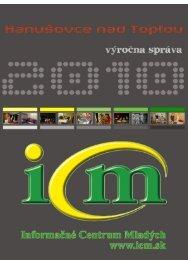 Základné informácie o ICM v Hanušovciach nad Topľou