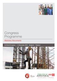 Congress Programme - BWI 2013 World Congress