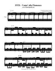 FFIX - Vamo' alla Flamenco - Piano Squall