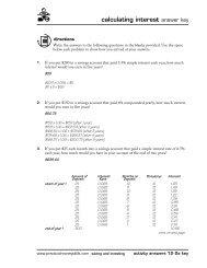 calculating interest answer key