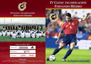 DIPT IV CLINIC HIERRO.indd - Real Federación Española de Fútbol