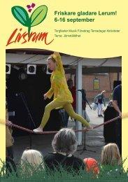 Friskare gladare Lerum! 6-16 september - Lerums Kommun