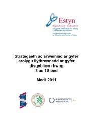 Strategaeth ac arweiniad ar gyfer arolygu ... - Learning Wales