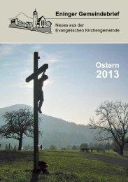 Ostern 2013. - Eningen-evangelisch.de
