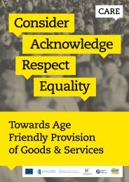 Towards Age Friendly Provision of Goods ... - Equality Authority