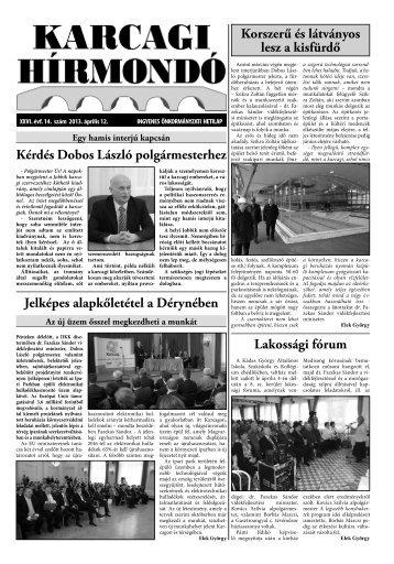 Kérdés Dobos László polgármesterhez Korszerű és ... - Karcag