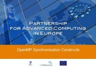 OpenMP Synchronization Constructs - Prace Training Portal