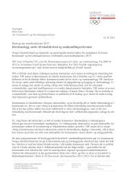 Idrettsanlegg, støtte til lokalidretten og samhandlingsreformen