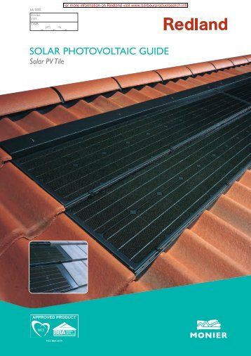 Solar Photovoltaic Guide - Building Product Search