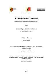 RAPPORT D'EVALUATION - Ville de Genève