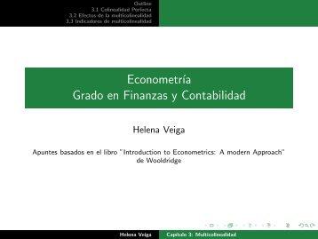 Econometría Grado en Finanzas y Contabilidad