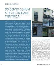 Do senso comum à objectividade científica, Ana Pereira Roders ...