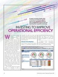 investing to improve operational efficiency - EFI Radius Software