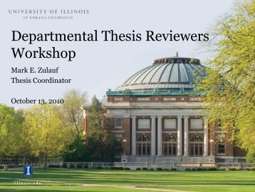 Departmental Thesis Reviewers Workshop - The Graduate College ...