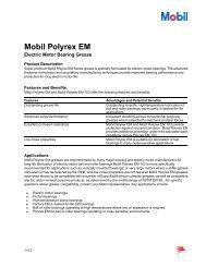 Mobil Polyrex EM Electric Motor Bearing Grease