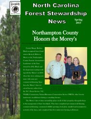 Northampton County Honors the Morey's - NC Forest Service