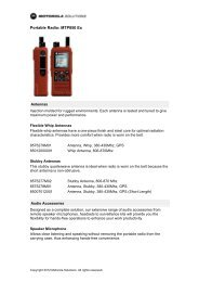 Portable Radio: MTP850 Ex - Motorola Solutions