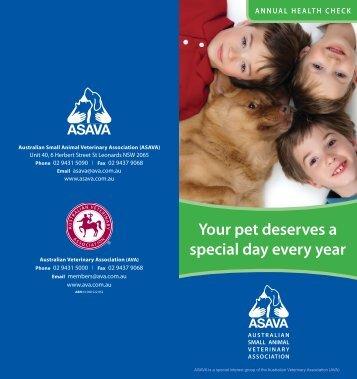 Annual health checks - Australian Veterinary Association
