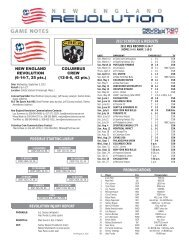 possible starting lineup 2012 schedule & results - New England ...