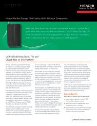 Hitachi Unified Storage 100 Family — Datasheet - ViON Corporation