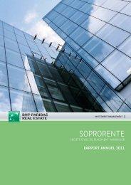 Rapport annuel - Soprorente - 2011 - BNP Paribas REIM