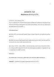 DECRETO. 7628 (Reglamento de la Ley 8.271)