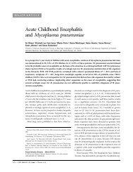 Acute Childhood Encephalitis and Mycoplasma pneumoniae