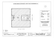 lettable area plan for level 3, 390 st. kilda rd, melbourne, vic