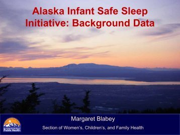 Promoting Safe Sleep for Infants and Preventing Deaths - ANTHC