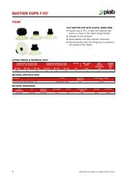 Piab suction cups F50MF data sheet