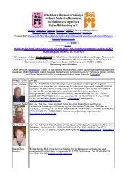 Koordination (Stand: 26.11.2010) - Arbeitskreis Bausachverständige ...