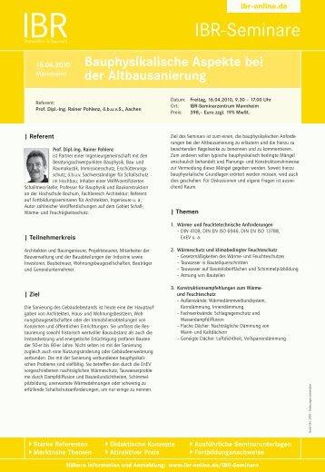 Ibr-Seminare - ibr-online