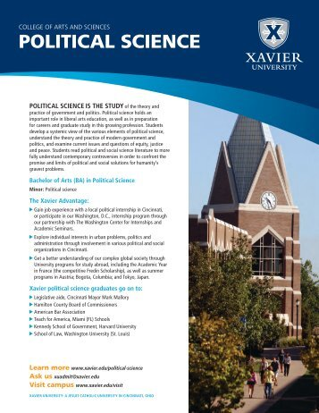 POLITICAL SCIENCE - Xavier University