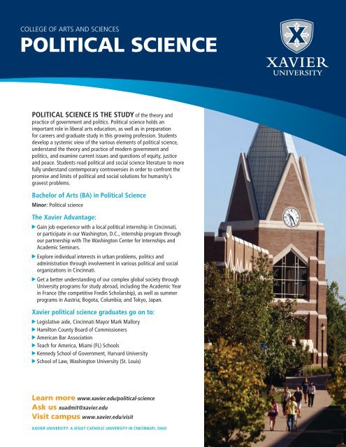 POLITICAL SCIENCE - Xavier University