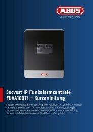 Secvest IP Funkalarmzentrale FUAA10011 – Kurzanleitung - Abus