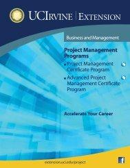 Project Management Programs - UC Irvine Extension - University of ...