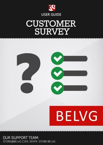 Customer Surveys User Guide - BelVG Magento Extensions Store