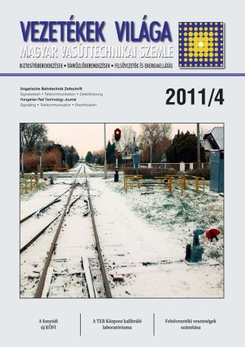 2011 /4. szám - MÁV Dokumentációs Központ és Könyvtár