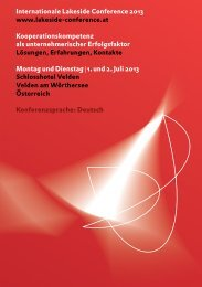 Programm Download - Lakeside Conference
