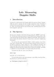 Lab: Measuring Doppler Shifts - UGAstro