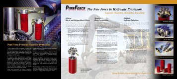 The New Force in Hydraulic Protection - Baldwin Filters